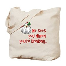 He Sees You Tote Bag