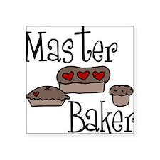 "Master Baker Square Sticker 3"" x 3"""