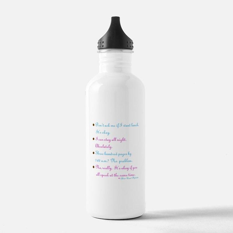 Cute Reporter Water Bottle