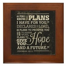 Hope and a Future Framed Tile
