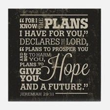Hope and a Future Tile Coaster