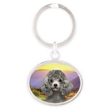 meadow2.png Oval Keychain