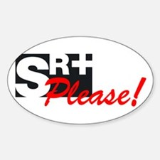 SR+ please copy.png Sticker (Oval)