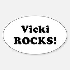Vicki Rocks! Oval Decal