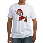 Santa Pup Fitted T-Shirt