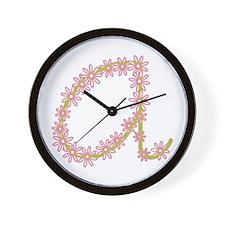 Monogram A Wall Clock