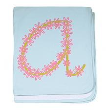 Monogram A baby blanket