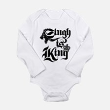Singh Is King Long Sleeve Infant Bodysuit