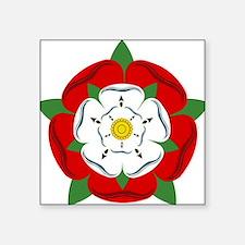 "Heraldic Rose Square Sticker 3"" x 3"""