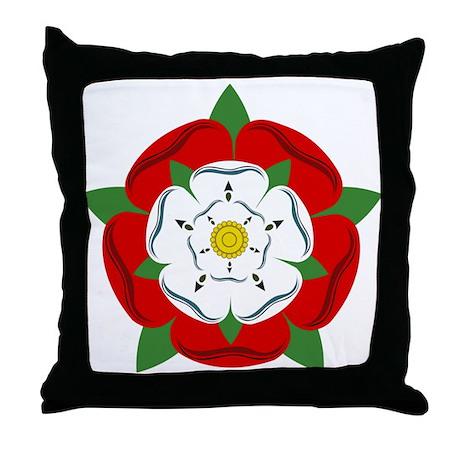 Heraldic Rose Throw Pillow