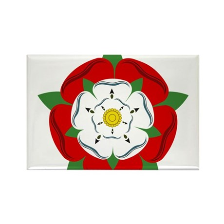 Heraldic Rose Rectangle Magnet