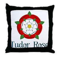 Tudor Rose Throw Pillow