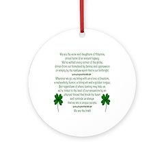 We Are the Irish Ornament (Round)