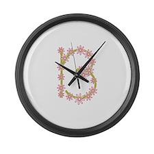 Monogram B Large Wall Clock