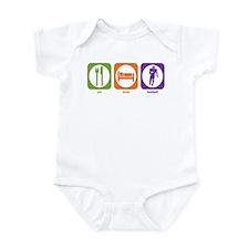 Eat Sleep Football Infant Bodysuit