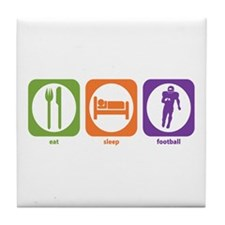 Eat Sleep Football Tile Coaster