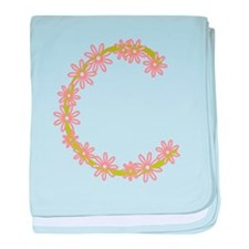 Monogram C baby blanket