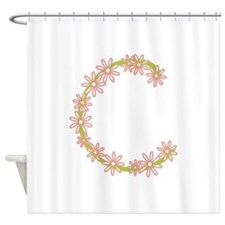 Monogram C Shower Curtain
