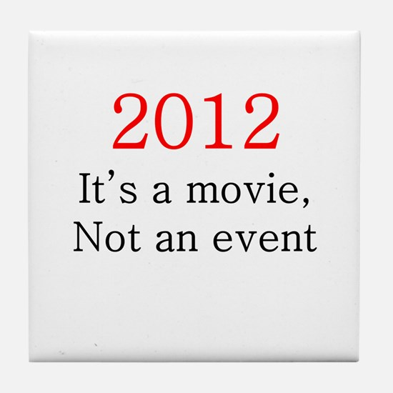 2012 Movie, not Event Tile Coaster