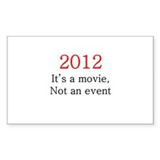 2012 Movie, not Event Decal