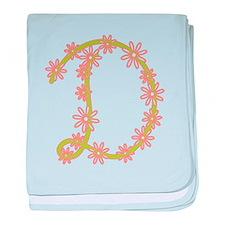 Monogram D baby blanket