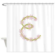 Monogram E Shower Curtain
