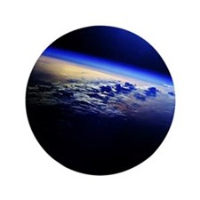 """Cloud Cover over the Earth 3.5"""" Button"""