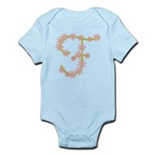 Monogram F Infant Bodysuit