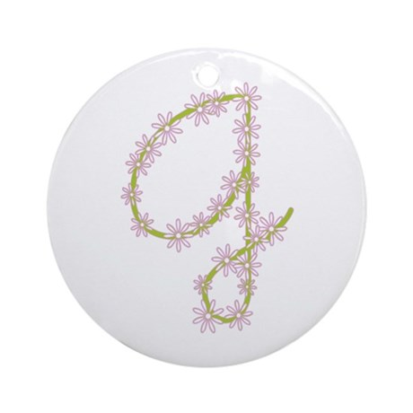 Monogram G Ornament (Round)