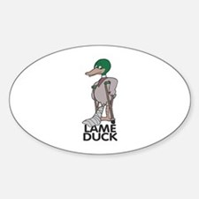 Lame Duck Oval Decal