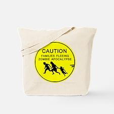 caution family families fleeing zombie apocalypse