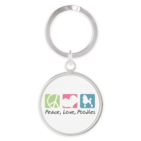 peacedogs.png Round Keychain