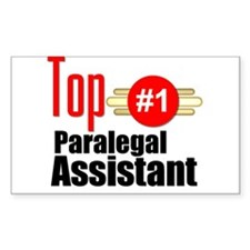 Top Paralegal Assistant Decal
