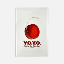 Red Y.O.Y.O. Rectangle Magnet