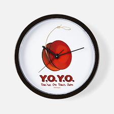 Red Y.O.Y.O. Wall Clock