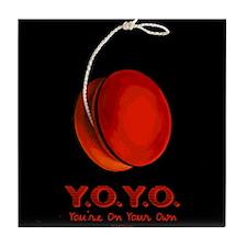 Red Y.O.Y.O. Tile Coaster