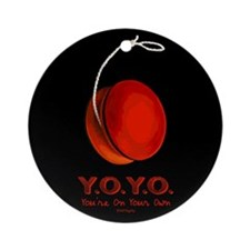 Red Y.O.Y.O. Ornament (Round)