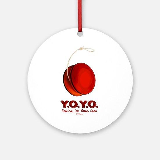 Red Y.O.Y.O. Ornament (Round)