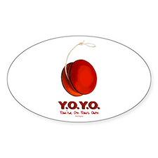 Red Y.O.Y.O. Oval Decal