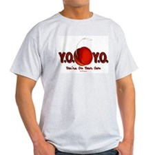 Red Y.O.Y.O. Ash Grey T-Shirt