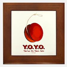Red Y.O.Y.O. Framed Tile