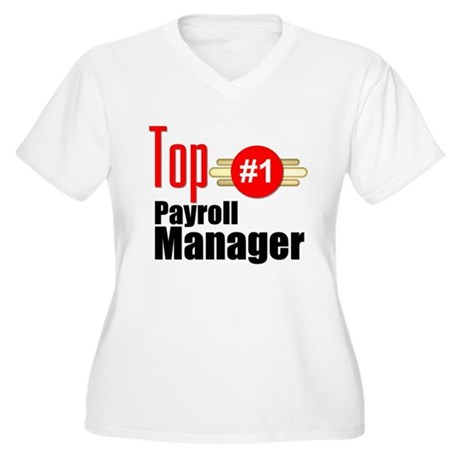 Top Payroll Manager Women's Plus Size V-Neck T-Shi