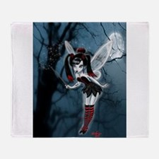 Dark Goth Fairy Throw Blanket