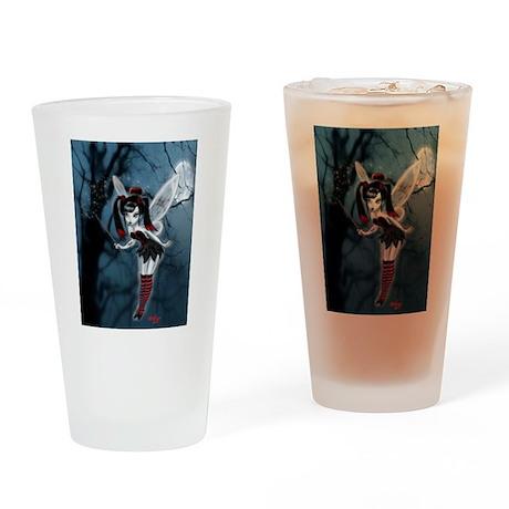 Dark Goth Fairy Drinking Glass