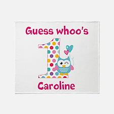 Custom guess whos 1 girl Throw Blanket