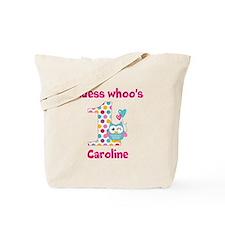 Custom guess whos 1 girl Tote Bag
