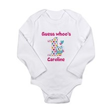 Custom guess whos 1 girl Baby Outfits
