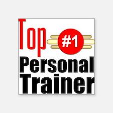 "Top Personal Trainer Square Sticker 3"" x 3"""