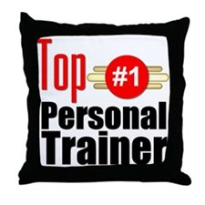 Top Personal Trainer Throw Pillow