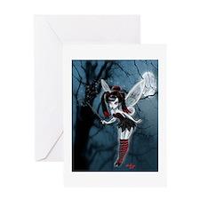 Dark Goth Fairy Greeting Card